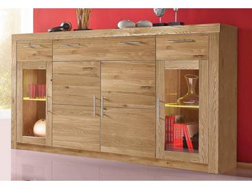 Highboard, 4-trg., braun, Wildeiche teilmassiv