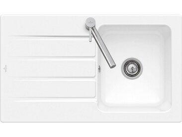 Villeroy & Boch Einbauwaschbecken »Architectura 50«, 86 cm breit, weiß, Handbetätigung-Lochbohrung HL1, Weiß alpin