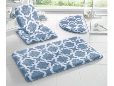 Kleine Wolke Badeteppich, blau, blau-weiß