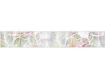 MySpotti MYSPOTTI Fensterfolie »mySPOTTI look Leaves white«, 200 x 30 cm, statisch haftend, weiß, 200 cm, weiß