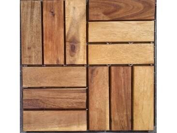 MERXX Merxx Holz-Fliesen »Akazie« mit Klick-Verbindung, Fläche: 0,9 m²/Paket, braun, braun, 0.9 m², braun