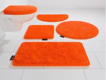 Bruno Banani Badematte »Lana« , Höhe 25 mm, rutschhemmend beschichtet, fußbodenheizungsgeeignet, orange, 25 mm, orange