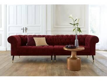 Guido Maria Kretschmer Home&Living GMK Home & Living Chesterfield Big-Sofa »Tinnum«, rot, rot