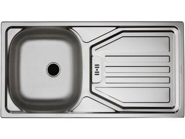 wiho Küchen Spüle »Flexi«, silberfarben, alufarben