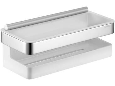 Keuco KEUCO Duschablage »Collection Moll - Duschkorb«, 3-teilig, mit integrierter Glasabzieher, weiß, chrom/weiß