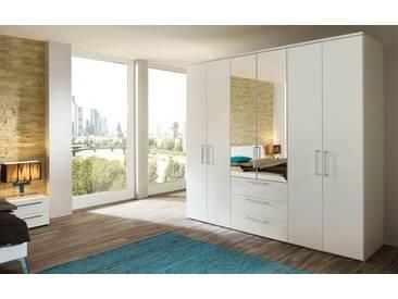 nolte® Möbel Drehtürenschrank »Horizont 8000«, mit Schubkasteneinsatz und Spiegel, weiß, Breite 300 cm, polarweiß