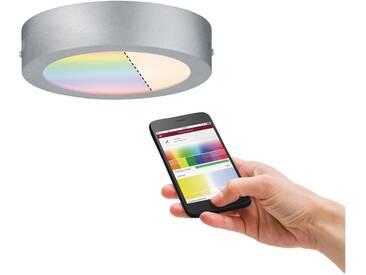 Paulmann LED Deckenleuchte »LED-Panel RGBW Chrom matt Cesena 11W smart«, silberfarben, chromfarben