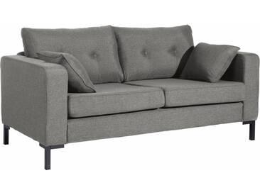 Max Winzer® 2-Sitzer Sofa »Timber« mit dekorativen Knöpfen, inklusive Zierkissen, grau, hellgrau