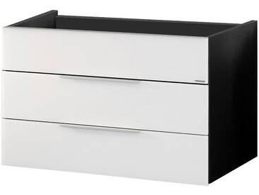 FACKELMANN Waschtischunterbau »Kara«, Breite 79,5 cm, weiß, anthrazit/weiß