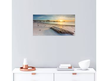 Posterlounge Wandbild - Dennis Siebert »Sonnenaufgang in Kellenhusen«, bunt, Holzbild, 80 x 40 cm, bunt