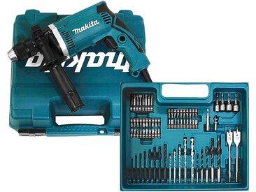 Makita MAKITA Schlagbohrmaschine »HP1631KX3«, inkl. 74-tlg. Zubehörset, 710 W, blau, blau