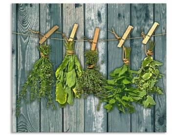 Artland Küchenrückwände »Team 5: Kräuter mit Holzoptik«, grün, 50x60 cm, Grün