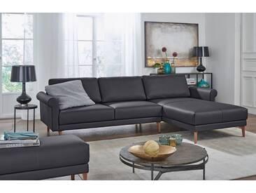Hülsta Sofa hülsta sofa Polsterecke »hs.450« im modernen Landhausstil, Breite 262 cm, schwarz, Recamiere rechts, signalschwarz