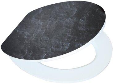 Schütte SCHÜTTE WC-Sitz »MDF WC- Sitz mit Holzkern und Absenkautomatik High Gloss Dekor«, schwarz, schwarz