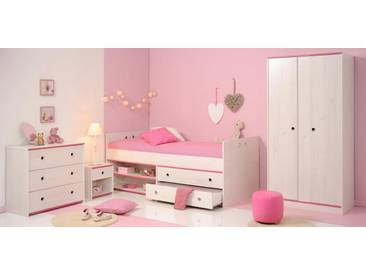 Parisot Jugendzimmer-Set (4-tlg.) »Smoozy«, Weiß mit Kieferstruktur