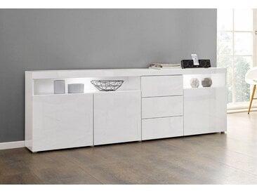 borchardt Möbel Borchardt Möbel Sideboard »Kapstadt«, Breite 200 cm mit 3 Schubkästen, weiß, weiß Hochglanz/weiß Hochglanz