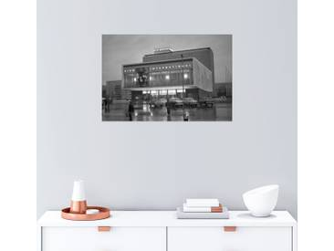 Posterlounge Wandbild - Manfred Uhlenhut »Kino International an der Karl-Marx-Allee«, grau, Holzbild, 150 x 100 cm, grau