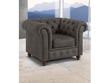 Premium collection by Home affaire Sessel »Chesterfield«, grau, grau