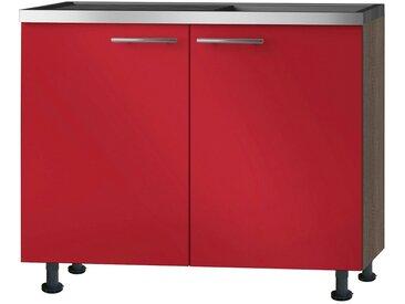 OPTIFIT Spülenunterschrank »OPTIkomfort Knud289«, Breite 100 cm, rot, rot