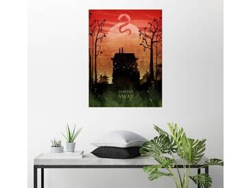 Posterlounge Wandbild - Albert Cagnef »Spirited away«, bunt, Holzbild, 120 x 160 cm, bunt