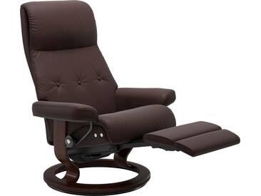 Stressless® Relaxsessel »Sky« mit Classic Base und LegComfort™, Größe M, Gestell braun, braun, chocolate PALOMA