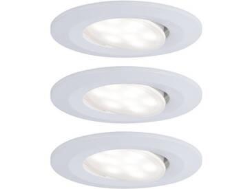 Paulmann LED Einbaustrahler »schwenkbar Weiß matt Calla rund 3x6,5W«, 3-flammig, weiß, 3 -flg. /, weiß