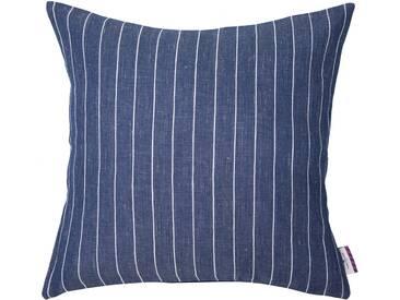 Tom Tailor Kissenhüllen »Easy Linen«, blau, Leinen-Polyester, blau