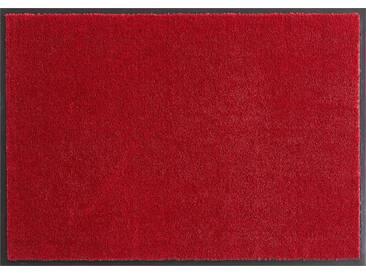 HANSE Home Fußmatte »Deko Soft«, rechteckig, Höhe 7 mm, saugfähig, waschbar, rot, 7 mm, rot