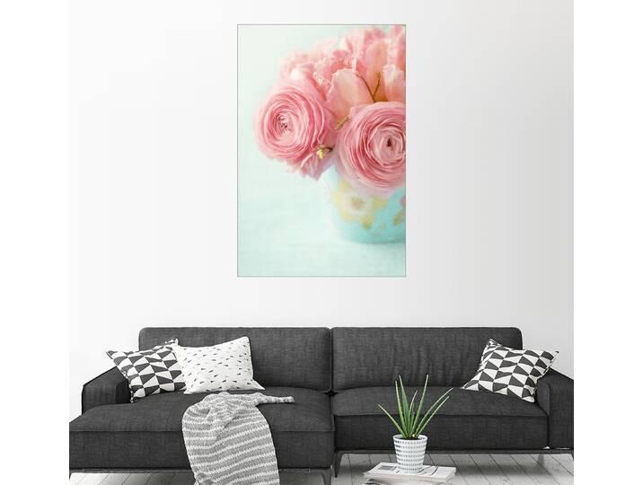 Posterlounge Wandbild - Elena Schweitzer »Ranunculus und Tulpen«, bunt, Poster, 20 x 30 cm, bunt Bunt