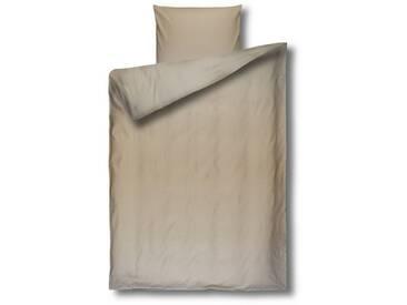 Casa di Bassi Bettwäsche »in Damast-Qualität basic«, ÖkoTex 100 Standard 100, natur, 1x 135x200 cm, Baumwolle, beige