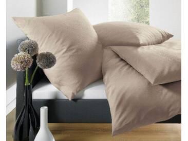 Schlafgut Bettwäsche »Leni«, mit eleganten Schattenstreifen, braun, 1x 135x200 cm, Satin, taupe