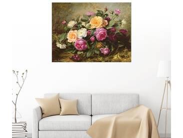 Posterlounge Wandbild - Albert Williams »Rosen in voller Blüte«, bunt, Holzbild, 160 x 120 cm, bunt