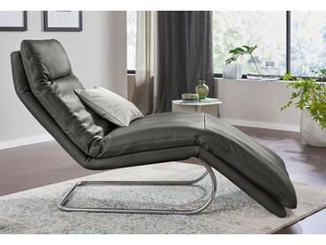 W.SCHILLIG Relaxliege »jill« mit Wippfunktion, inklusive Rücken-, Fußteil- & Kopfteilverstellung, grau, graphit