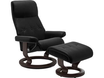 Stressless® Set: Relaxsessel mit Hocker »Sky« mit Classic Base, Größe S, Gestell wengefarben, schwarz, black PALOMA