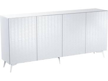 Bruno Banani bruno banani Sideboard »Design 4«, mit 3D-Fronten in Hochglanz, in zwei Breiten, weiß, 4 Türen (211/42/97 cm), weiß Hochglanz