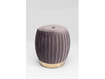 KARE Design Hocker »Pigalle«, grau, Maße (H/Ø): 42/38 cm, grau