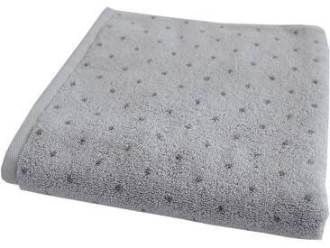 Dyckhoff Handtücher »Pünktchen«, mit eingewebten Pünktchen, silberfarben, Walkfrottee, silberfarben