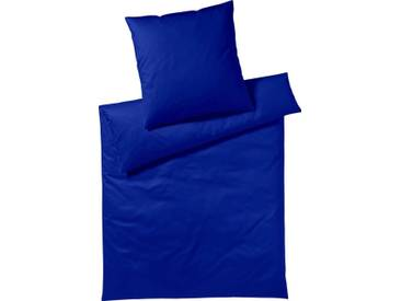 Yes for Bed Bettwäsche »Pure & Simple Uni«, aus hochwertigem Mako-Satin, blau, 1x 155x200 cm, Mako-Satin, royal