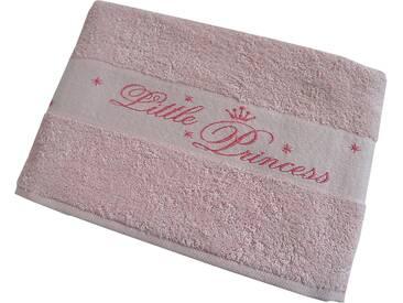 Dyckhoff Badetuch »Little Princess«, mit eingewebten Schriftzug, rosa, Walkfrottee, rosa