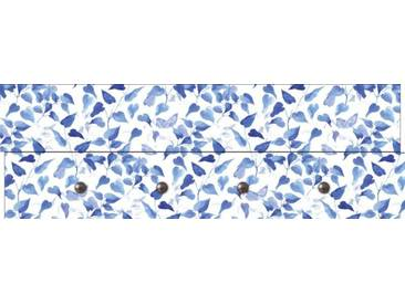 Artland Wandgarderobe »Jule: Blaue Blätter«, blau, 30 x 90 x 2,8 cm, Blau