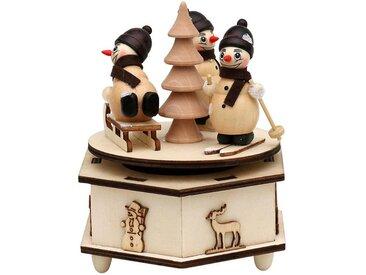 SIGRO Spieldose »Schneemann«, natur, mit Schlitten, Natur