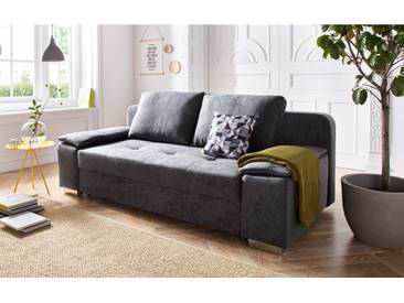 COLLECTION AB Schlafsofa, mit Federkern, inklusive Bettfunktion und Bettkasten, grau, 203 cm, anthrazit