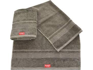 Dyckhoff Handtücher »Stone«, mit Bordüre ausgestattet, braun, Walkfrottee, dunkelbraun
