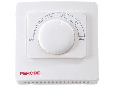 PEROBE Wandthermostat für elektrische Fußbodenheizungen, weiß, 15 m², weiß