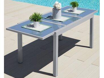 MERXX Gartentisch »Amalfi«, Aluminium, ausziehbar, grau, 140/200 cm x 90 cm, hellgrau