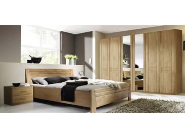 rauch Schlafzimmer-Set (4-tlg.), mit 6-türigen Kleiderschrank, Erle natur