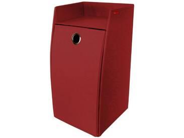Franz Müller Flechtwaren Wäschebox, rechteckig aus Polyester, rot, rot