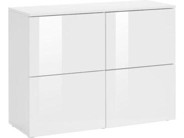 borchardt Möbel Kommode »Rova«, Breite 93 cm, weiß, weiß matt/weiß Hochglanz