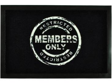 HANSE Home Fußmatte »Members Only«, rechteckig, Höhe 7 mm, rechteckig, schwarz, 7 mm, schwarz