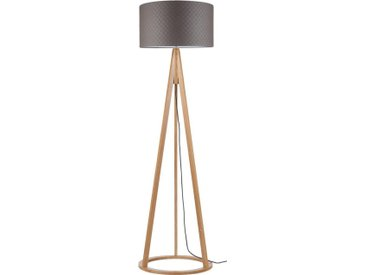 SPOT Light Stehlampe »KONAN/MILENA«, 1-flammig, grau, 1 -flg. / Ø50 cm, eichefarben-grau
